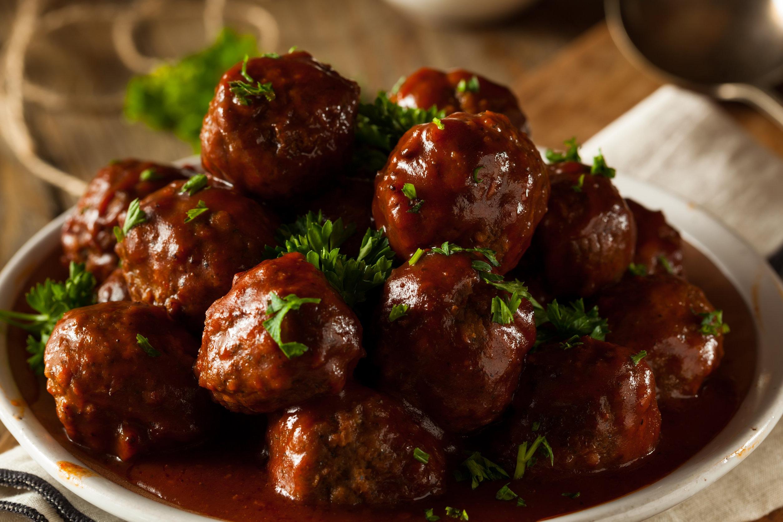 BBQ Maple Meatballs