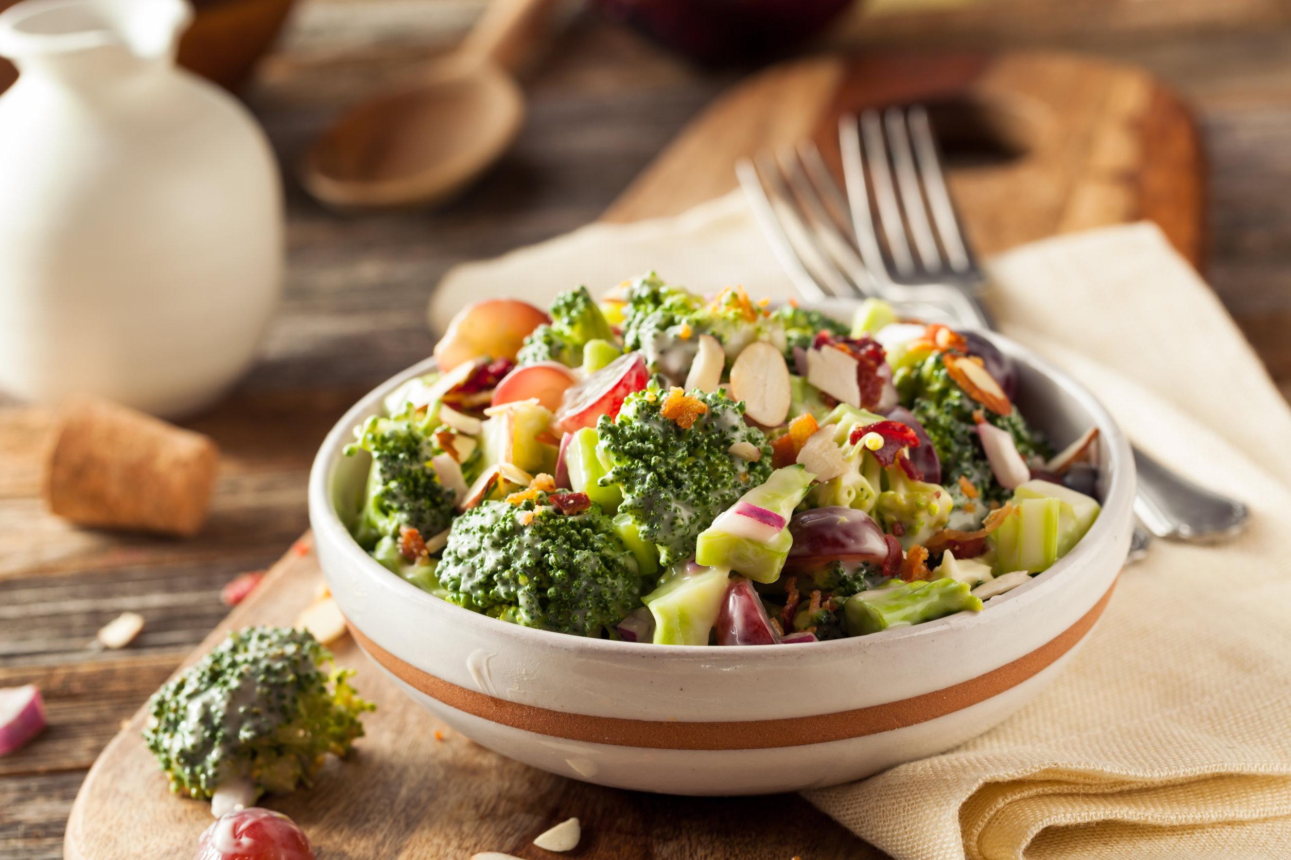 Maple Broccoli Salad with Bacon