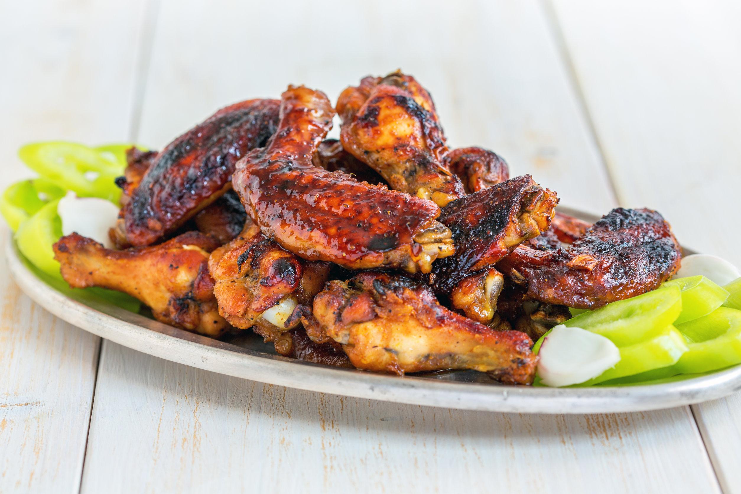 Maple Mustard BBQ Wings