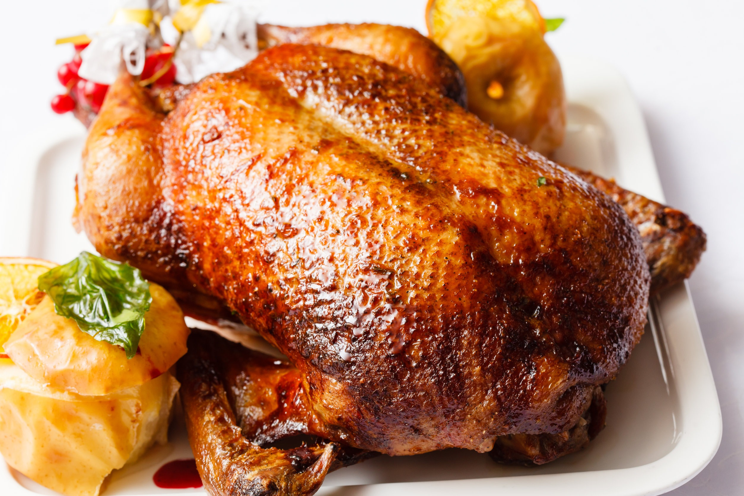 Maple Cider Roasted Turkey with Cherry Compote